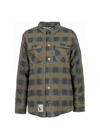 L1 Strangelove Flannel - Walnut/Ink_10936