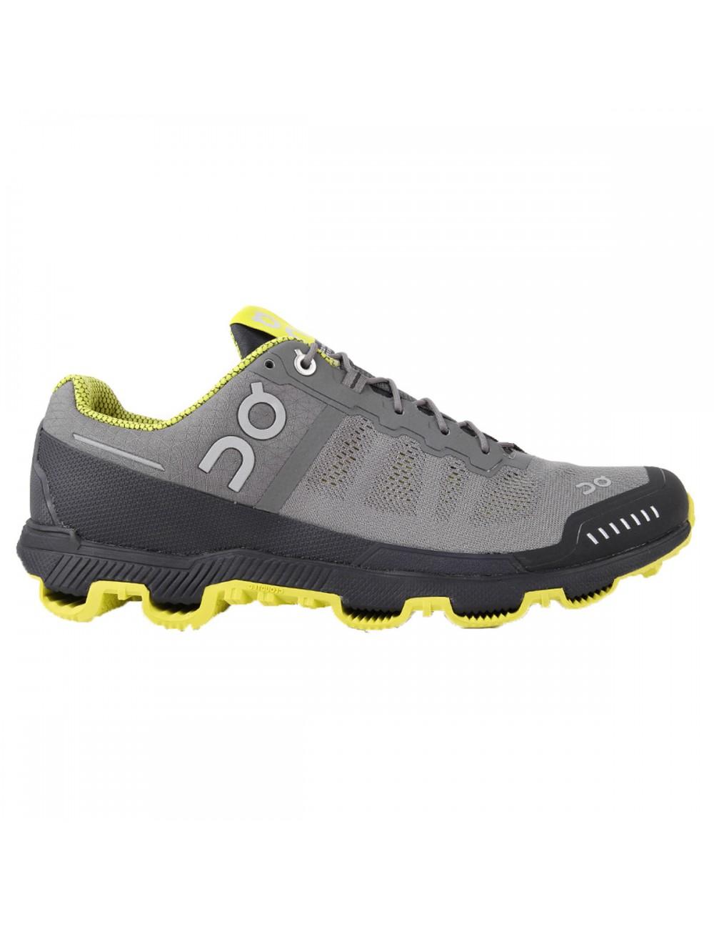 ON Cloudventure Shoe - Grey/Sulphur_10992