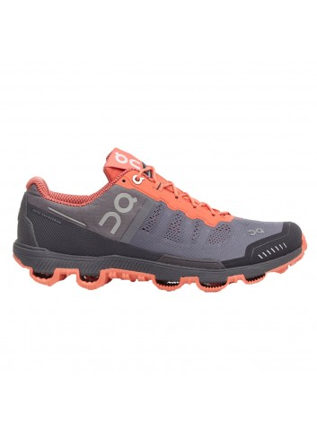 ON Cloudventure Shoe - Grey/Lava_10995