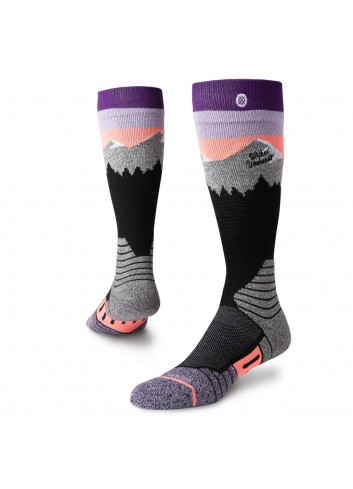 Stance White Caps Socken - Purple_11019