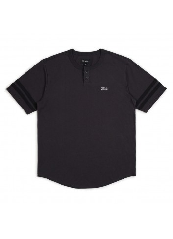 Brixton Potrero II Henley Shirt - Washed Black_11091