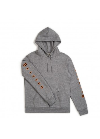 Brixton Primo Hood Fleece - Heather Grey_11092