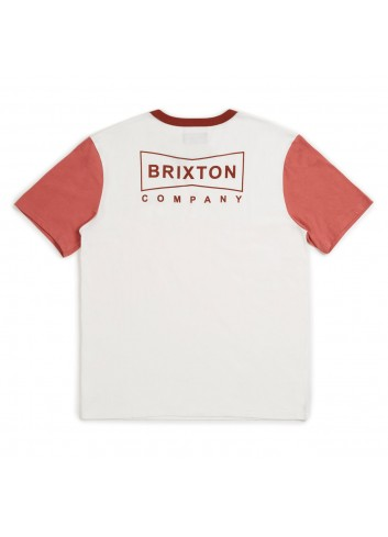 Brixton Wedge Henley Shirt - White Rust_11101