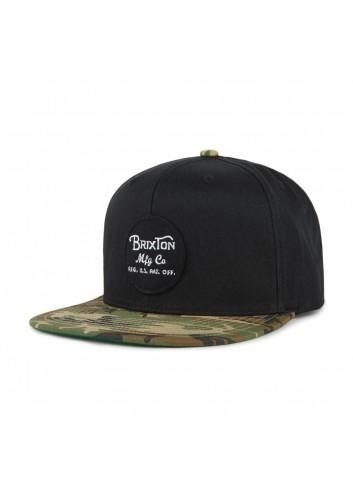 Brixton Wheeler Cap - Black Camo_11103