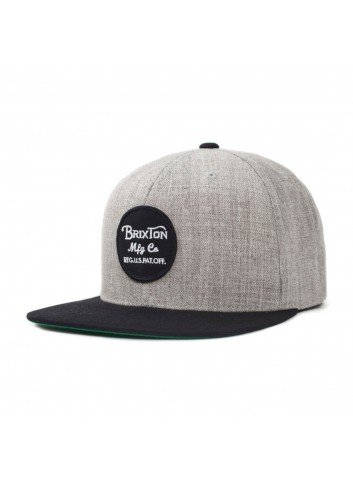 Brixton Wheeler Cap - Grey Black_11104