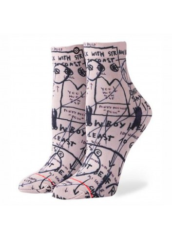Stance Wms Old Ladies Socks - White_11431