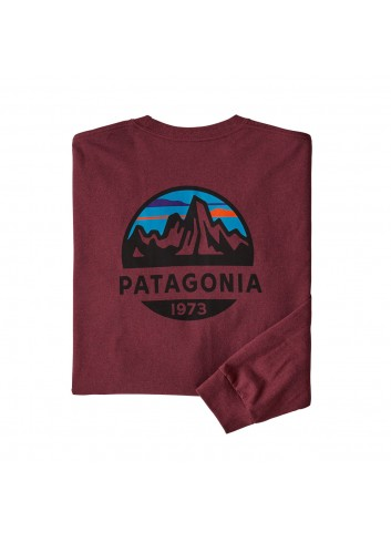 Patagonia L/S Fitz Roy Scope Responsibili Tee - Oxide Red_12028
