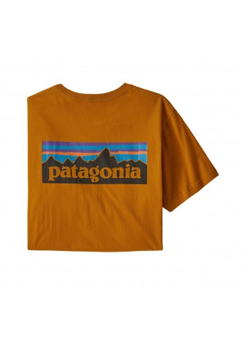 Patagonia P-6 Logo Organic Shirt - Hammonds Gold_12030