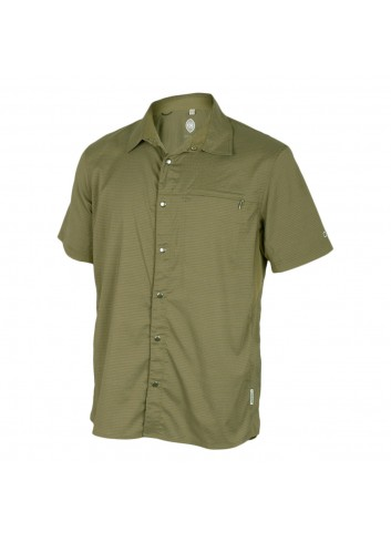Club Ride Vibe Shirt S/S - Olive Stripe_12314