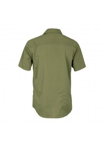 Club Ride Vibe Shirt S/S - Olive Stripe_12315