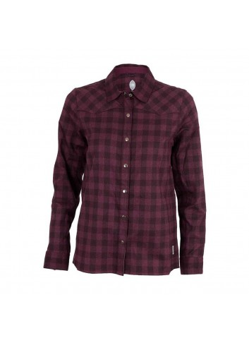 Club Ride Wms Liv'N'Flannel Shirt L/S - Plum_12351