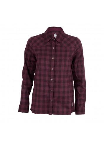 Club Ride Wms Liv'N'Flannel Shirt L/S - Plum_12351