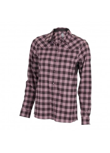 Club Ride Wms Liv'N'Flannel Shirt L/S - Blush_12352