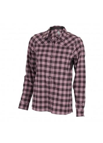 Club Ride Wms Liv'N'Flannel Shirt L/S - Blush_12352