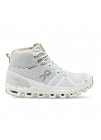 ON Cloudrock Waterproof Shoe - Glacier/Sand_12669