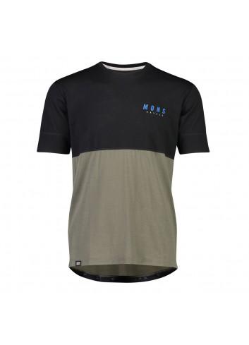 Mons Royale Cadence T-Shirt - Black/Olive_12774