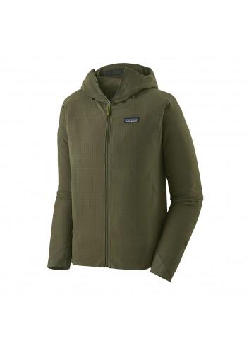 Patagonia R1 TechFace Hoodie - Green_12864