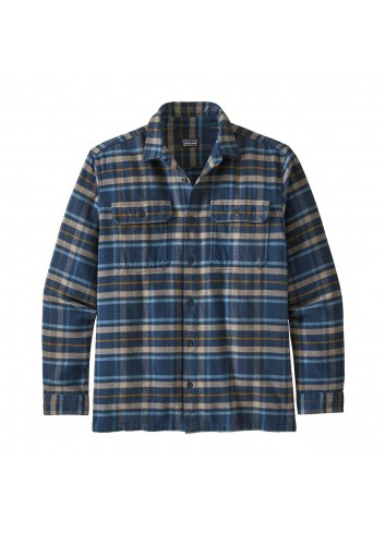 Patagonia L/S Fjord Flannel - Navy_13291