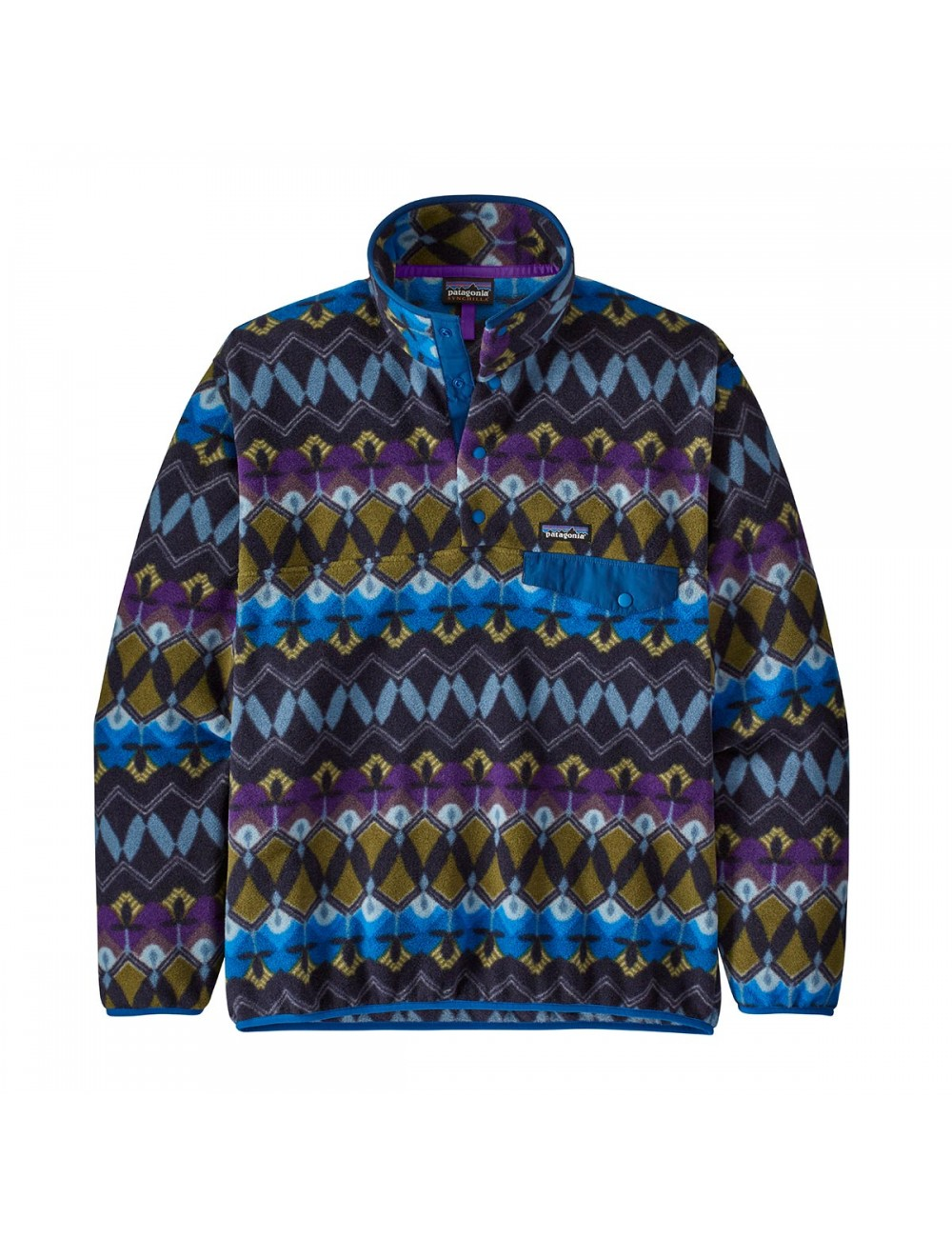 Patagonia Lightweight Synchilla Snap-T Fleece Pullover - Navy_13296