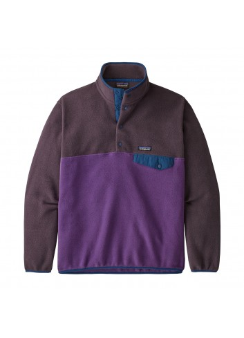 Patagonia Lightweight Synchilla Snap-T Fleece Pullover - Purple_13297