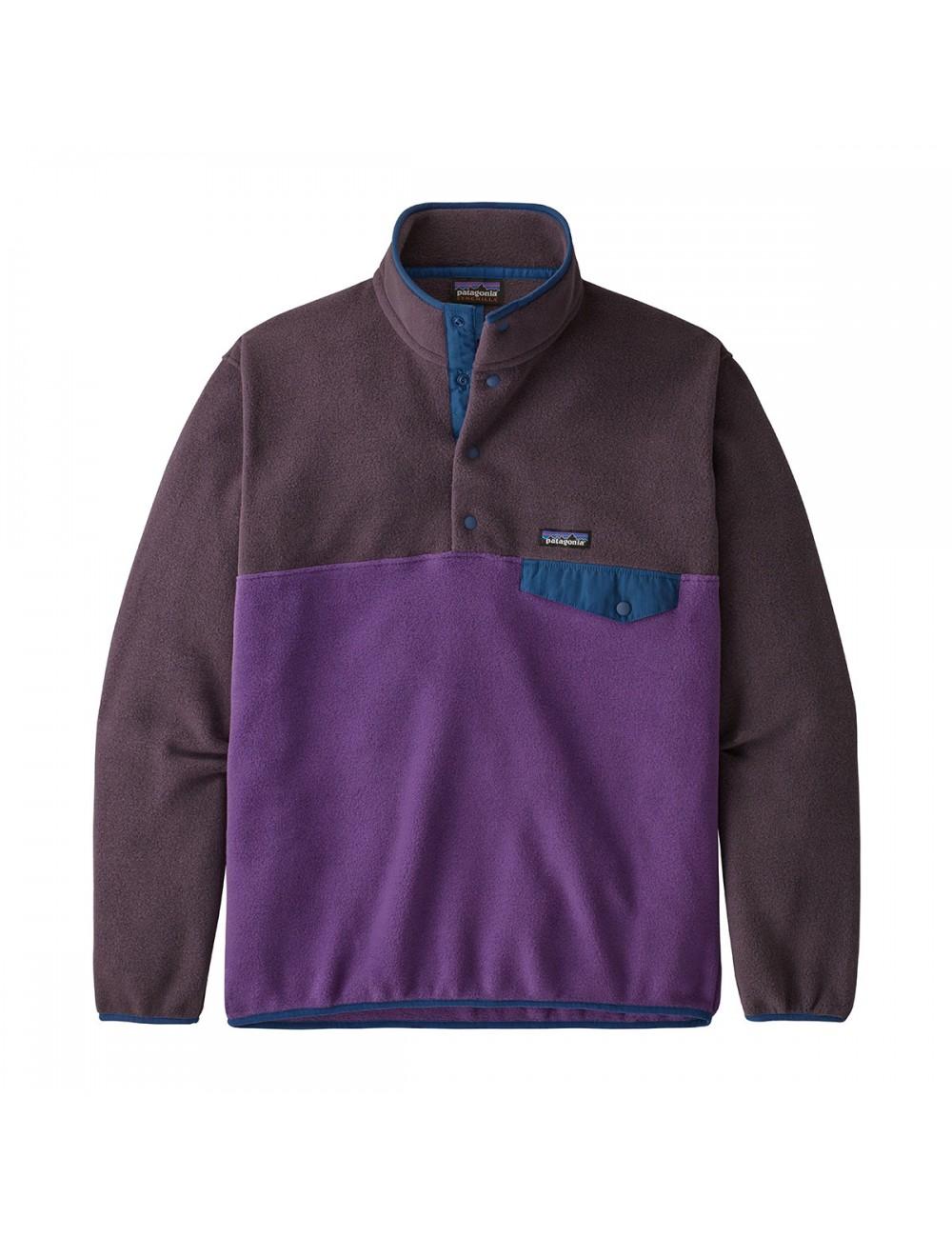 Patagonia Lightweight Synchilla Snap-T Fleece Pullover - Purple_13297