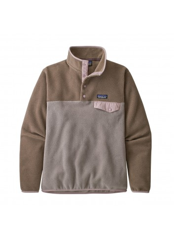 Patagonia Lightweight Synchilla Snap-T Fleece Pullover - Taupe_13298