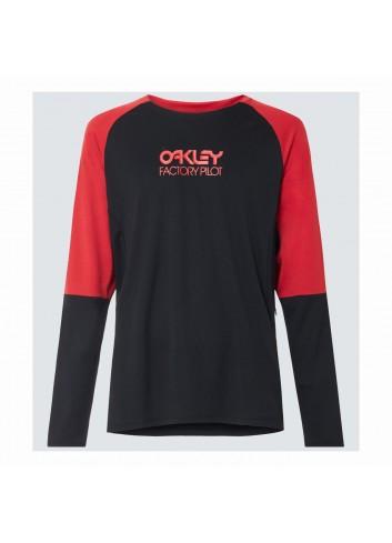 Oakley Switchback Longsleeve Trail Tee - Blackout_13367
