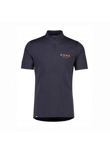 Mons Royale Cadence Half Zip T-Shirt - Iron_13430