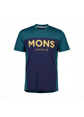 Mons Royale Redwood Enduro VT Shirt - Deep Teal Navy_13436
