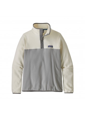 Patagonia Wms Micro D Snap Pullover - grey/white_13465