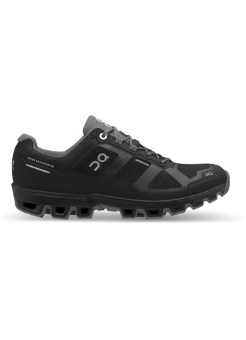 ON Wms Cloudventure Waterproof Shoe - Black/Graphit_13588
