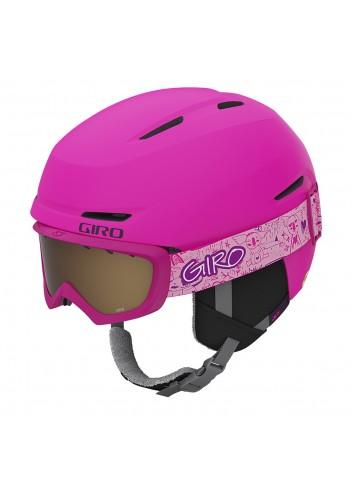 Giro Jr Spur Combo - Matte Bright Pink Purple_13728