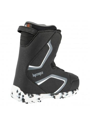 Nitro JR Droid Boa Boot - Black/White/Charcoal_13795
