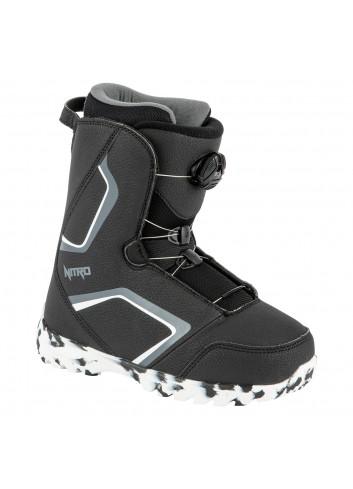 Nitro JR Droid Boa Boot - Black/White/Charcoal_13796