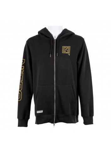 Nitro Team Zip Hoodie - Black_13949