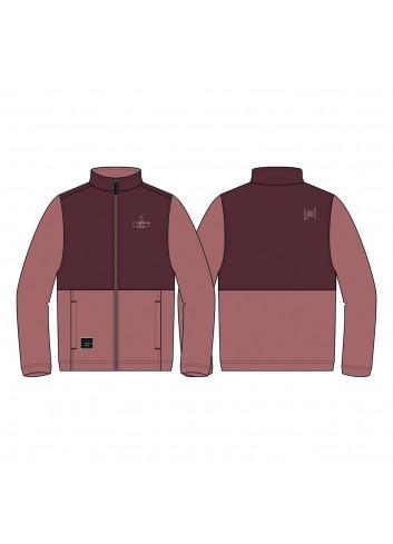 L1 Wms Alpine Zip Fleece - Rose/Wine_13964